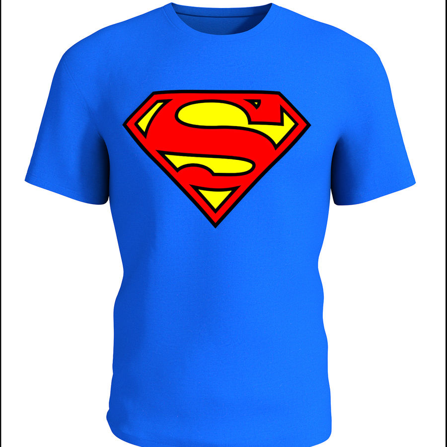 T-shirt do superman royalty-free 3d model - Preview no. 1