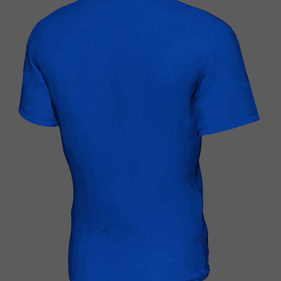 T-shirt do superman royalty-free 3d model - Preview no. 5