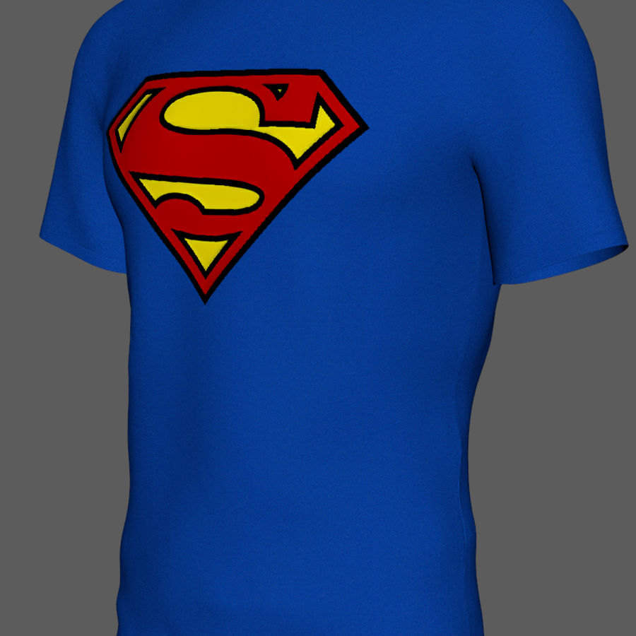 T-shirt do superman royalty-free 3d model - Preview no. 3