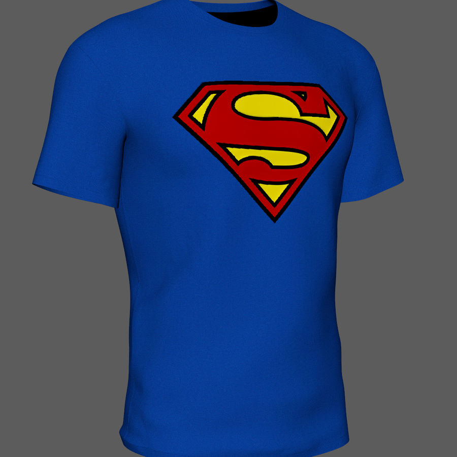 T-shirt do superman royalty-free 3d model - Preview no. 2