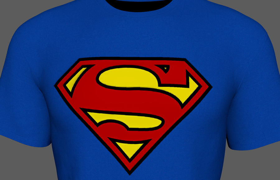 T-shirt do superman royalty-free 3d model - Preview no. 4