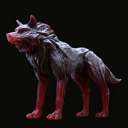 Wolf shaman 3d model