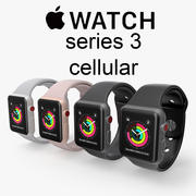 Apple watch cellular series 3 3d model