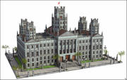 Government Building 3d model