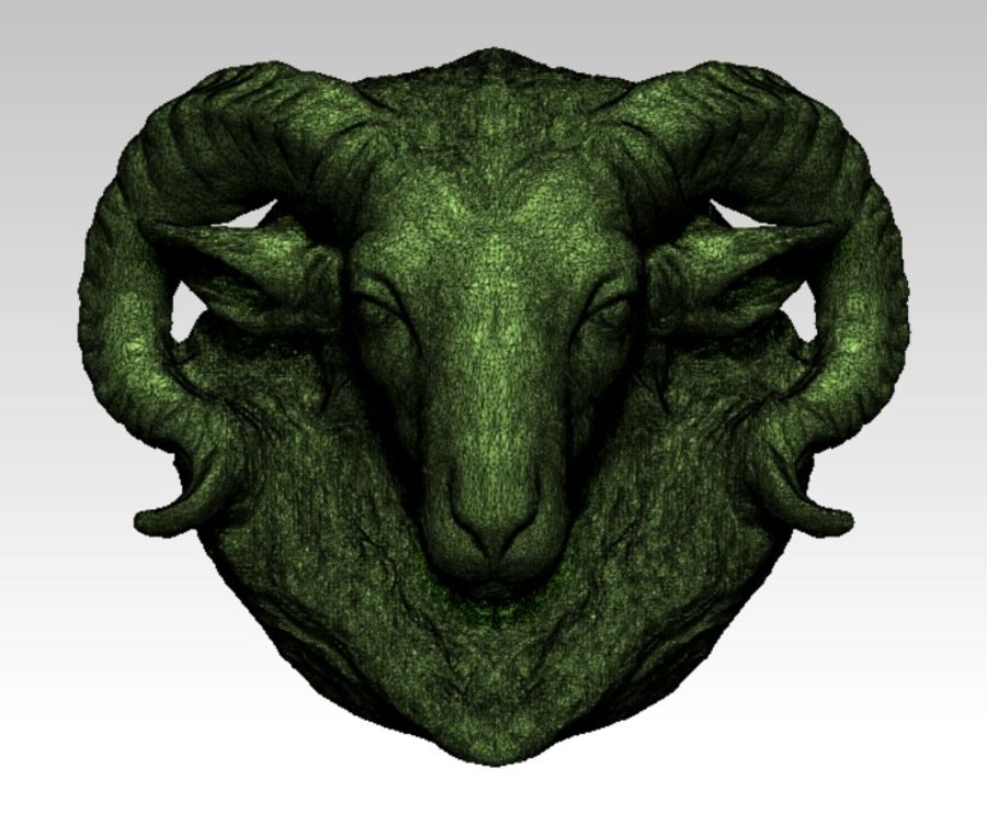 Ram head royalty-free 3d model - Preview no. 3