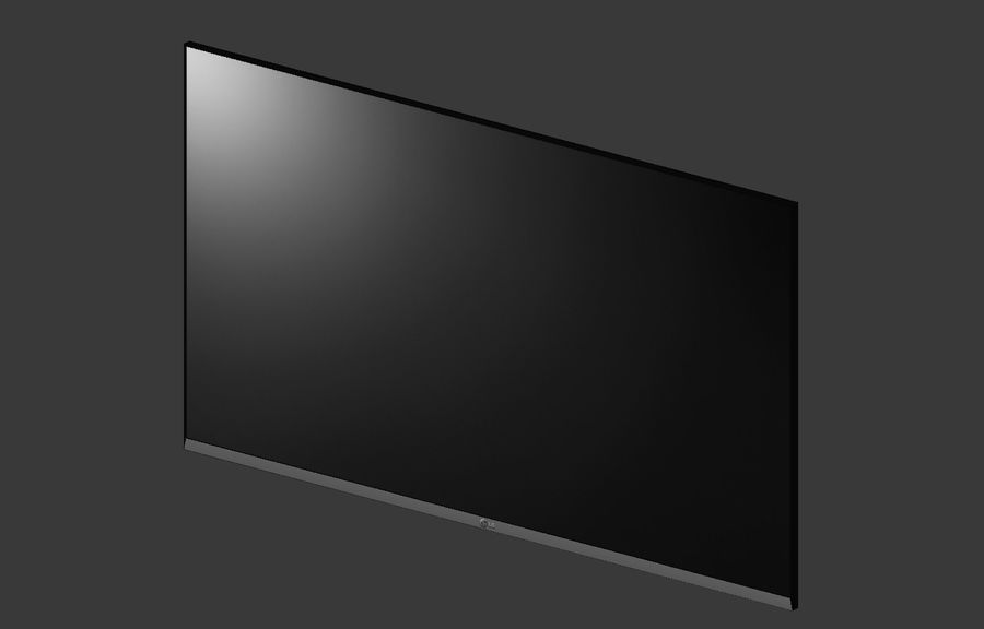 Flat Screen Wall TV royalty-free 3d model - Preview no. 3