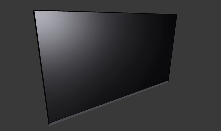 Flat Screen Wall TV royalty-free 3d model - Preview no. 6