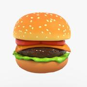 Cheeseburger Cartoon for games 3d model
