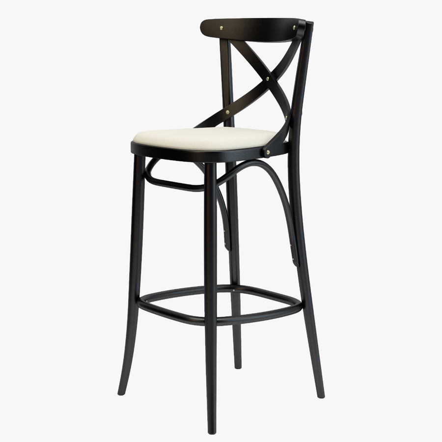 Thonet Barstool 150 Black Royaltyfree 3d Model  Preview No Thonet Bar Stool L16