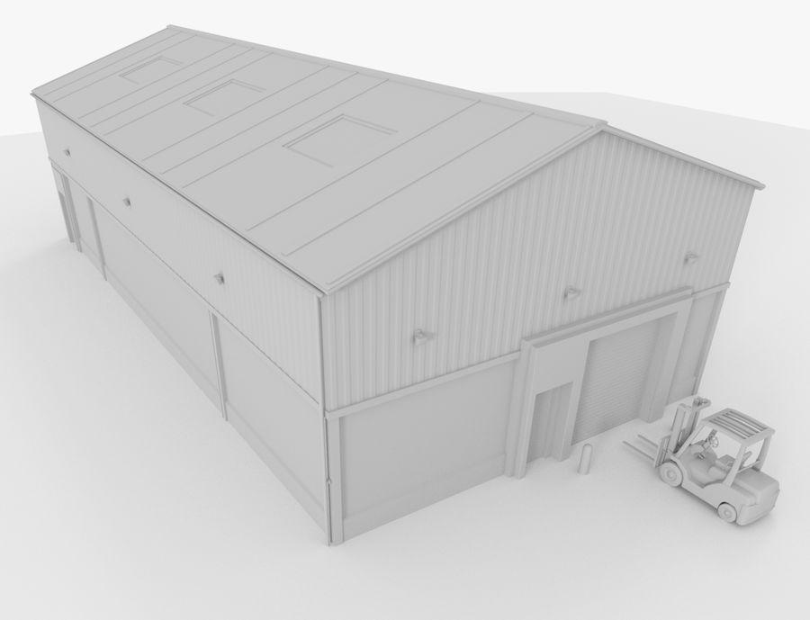 Empilhadeira / Armazém royalty-free 3d model - Preview no. 3