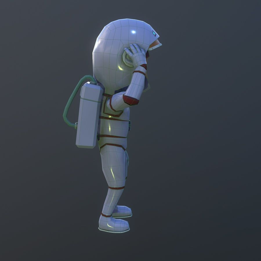 女宇航员 royalty-free 3d model - Preview no. 4