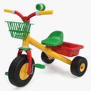 儿童三轮车三轮车踏板自行车自行车索具 3d model