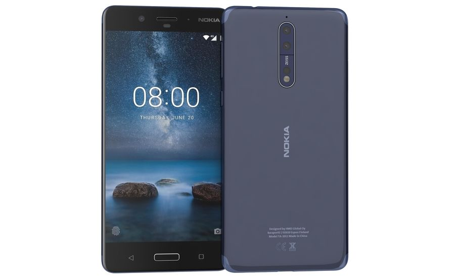 Nokia 8 All Colors royalty-free 3d model - Preview no. 4