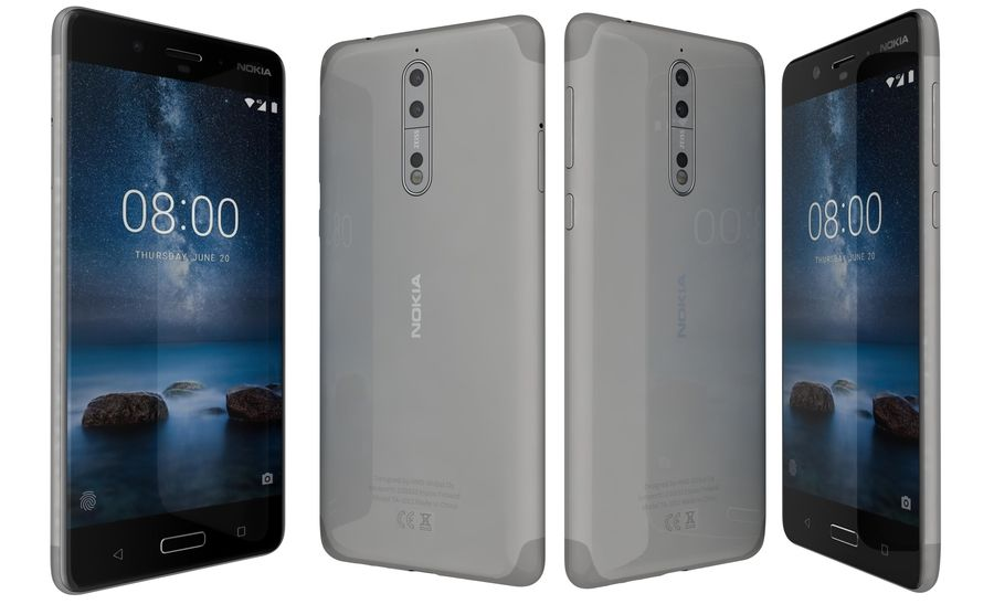 Nokia 8 All Colors royalty-free 3d model - Preview no. 25