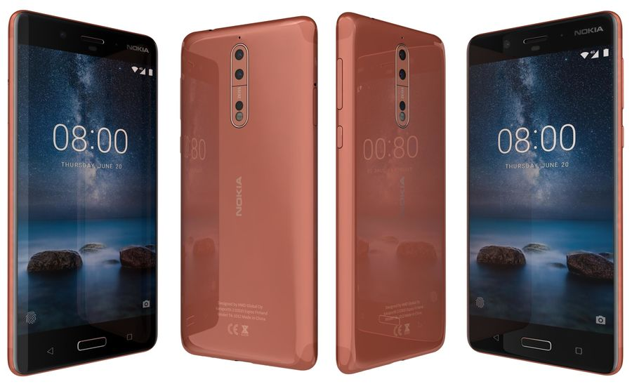Nokia 8 All Colors royalty-free 3d model - Preview no. 9