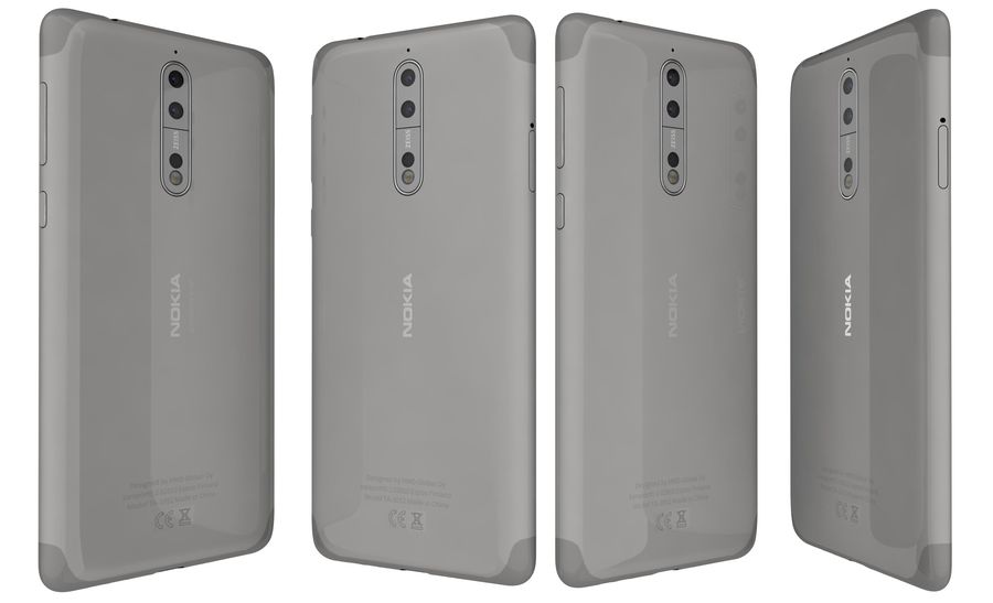 Nokia 8 All Colors royalty-free 3d model - Preview no. 26