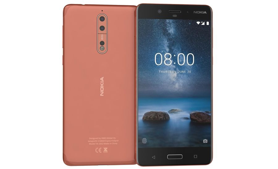 Nokia 8 All Colors royalty-free 3d model - Preview no. 5