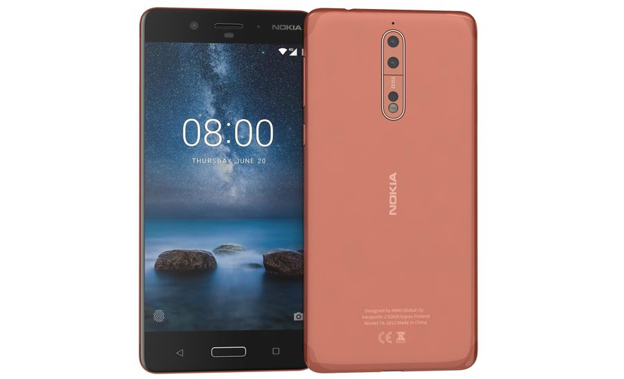 Nokia 8 All Colors royalty-free 3d model - Preview no. 3