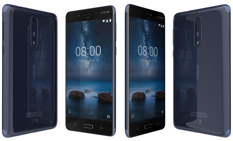 Nokia 8 All Colors royalty-free 3d model - Preview no. 6