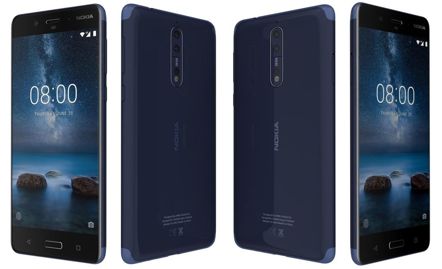 Nokia 8 All Colors royalty-free 3d model - Preview no. 36