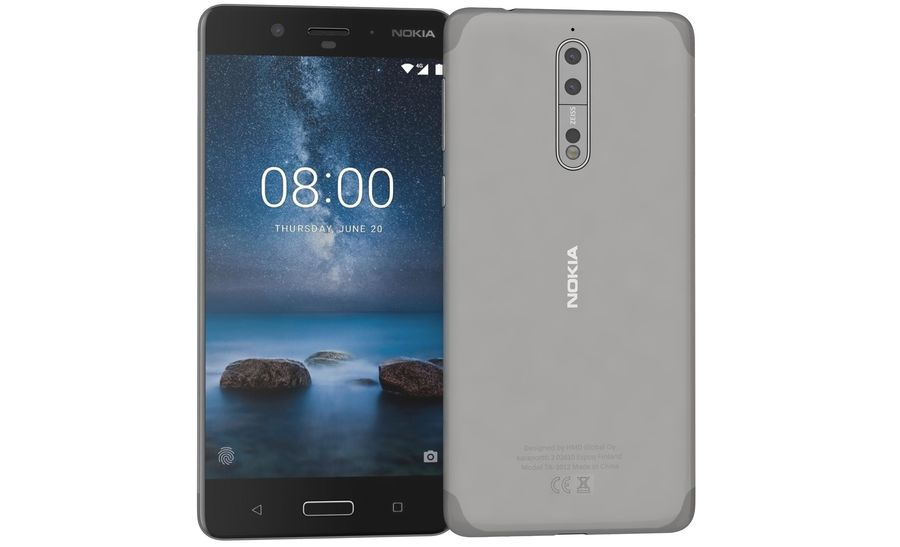 Nokia 8 All Colors royalty-free 3d model - Preview no. 22