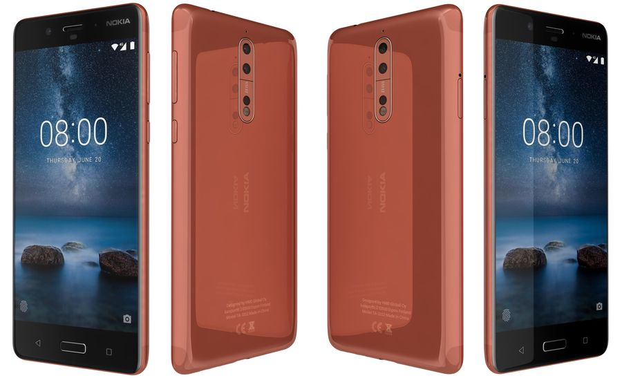 Nokia 8 All Colors royalty-free 3d model - Preview no. 20