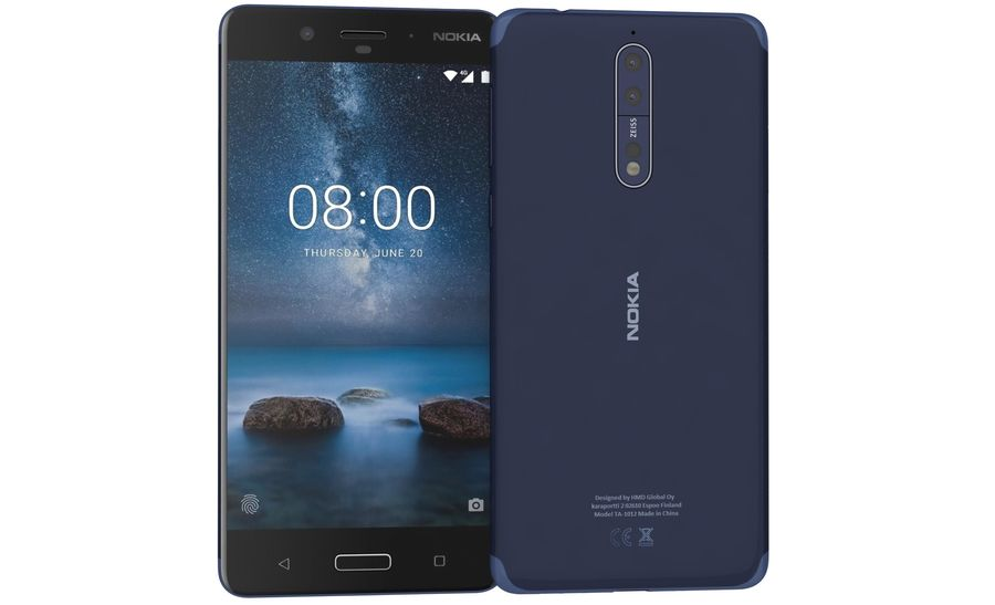 Nokia 8 All Colors royalty-free 3d model - Preview no. 30