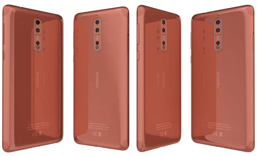 Nokia 8 All Colors royalty-free 3d model - Preview no. 11