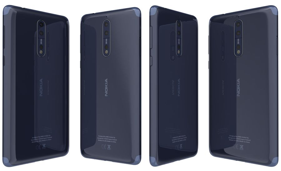 Nokia 8 All Colors royalty-free 3d model - Preview no. 12