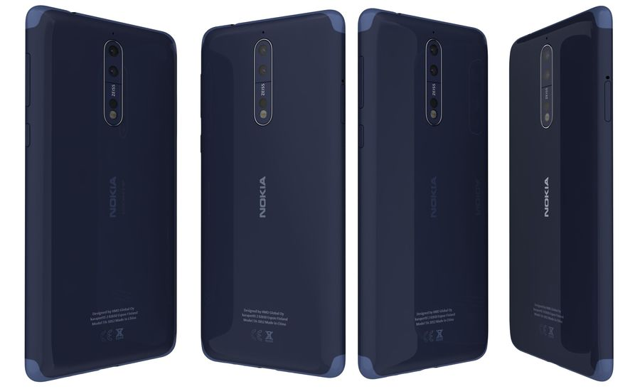 Nokia 8 All Colors royalty-free 3d model - Preview no. 34