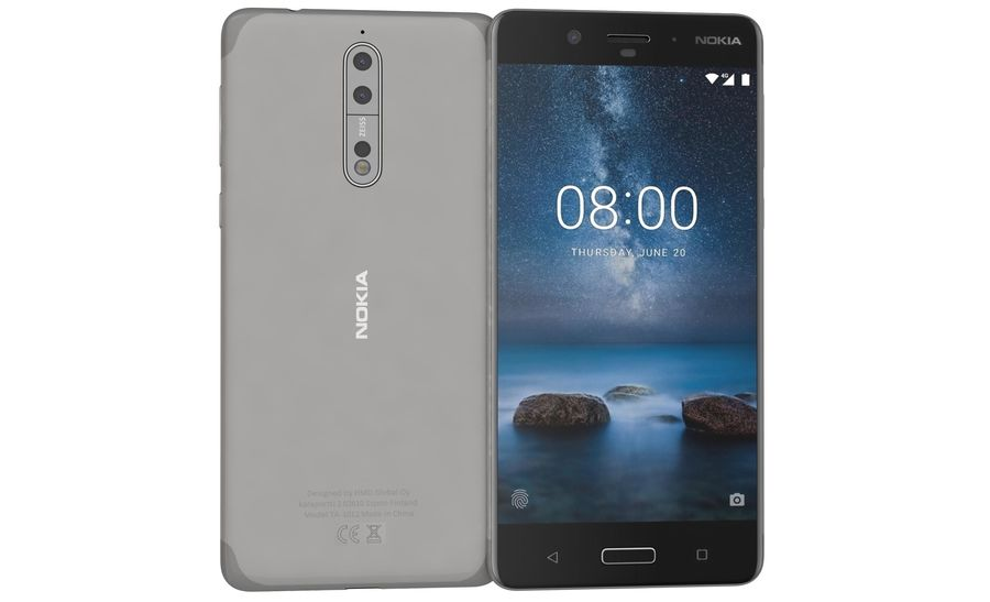Nokia 8 All Colors royalty-free 3d model - Preview no. 21