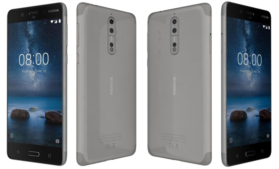Nokia 8 All Colors royalty-free 3d model - Preview no. 28