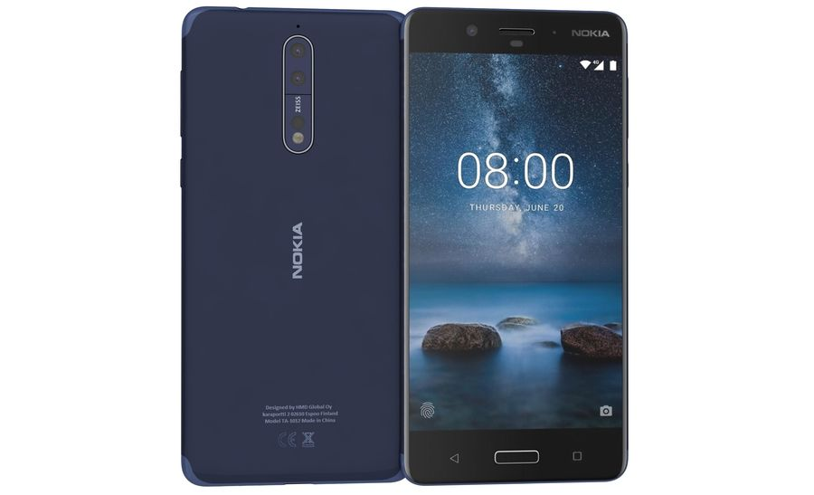 Nokia 8 All Colors royalty-free 3d model - Preview no. 29