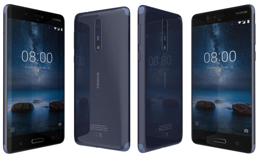 Nokia 8 All Colors royalty-free 3d model - Preview no. 10