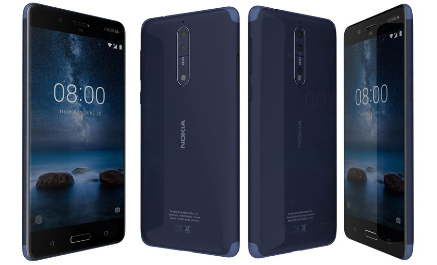 Nokia 8 All Colors royalty-free 3d model - Preview no. 33