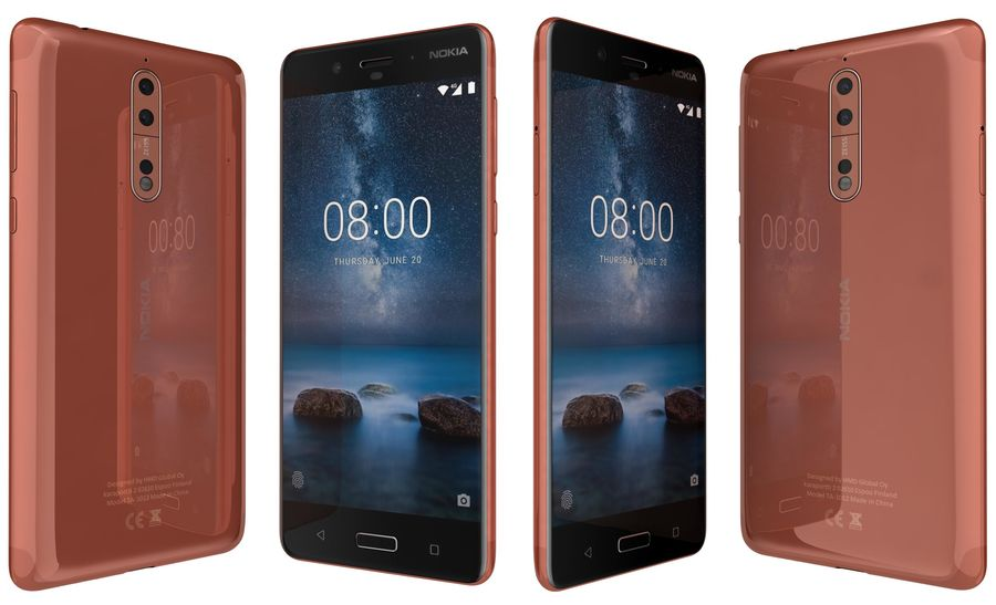 Nokia 8 All Colors royalty-free 3d model - Preview no. 7