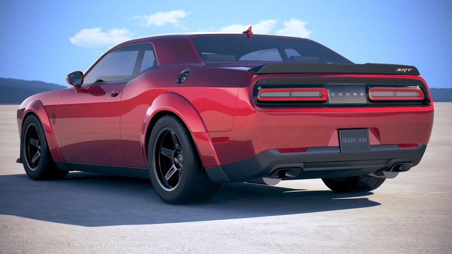 Dodge Challenger SRT Demon 2018 royalty-free 3d model - Preview no. 14
