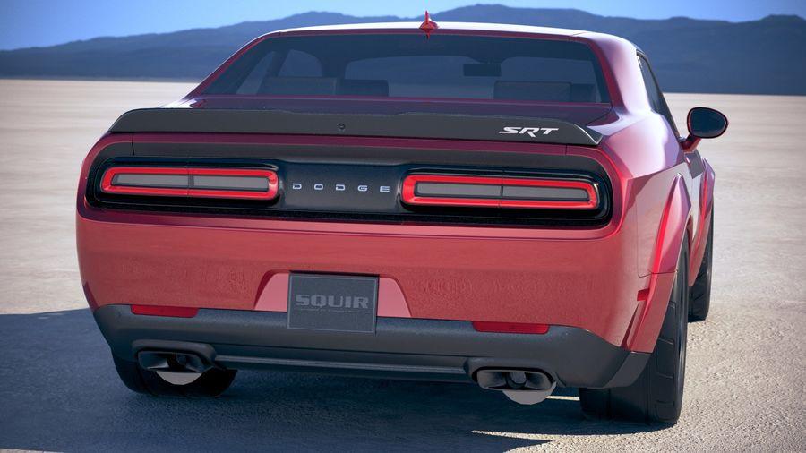 Dodge Challenger SRT Demon 2018 royalty-free 3d model - Preview no. 6
