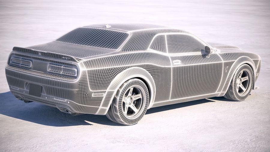 Dodge Challenger SRT Demon 2018 royalty-free 3d model - Preview no. 19