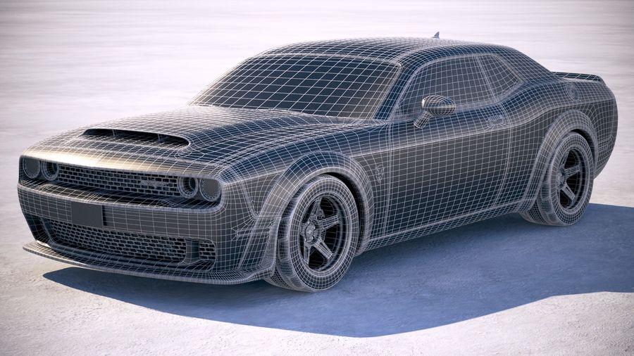 Dodge Challenger SRT Demon 2018 royalty-free 3d model - Preview no. 20