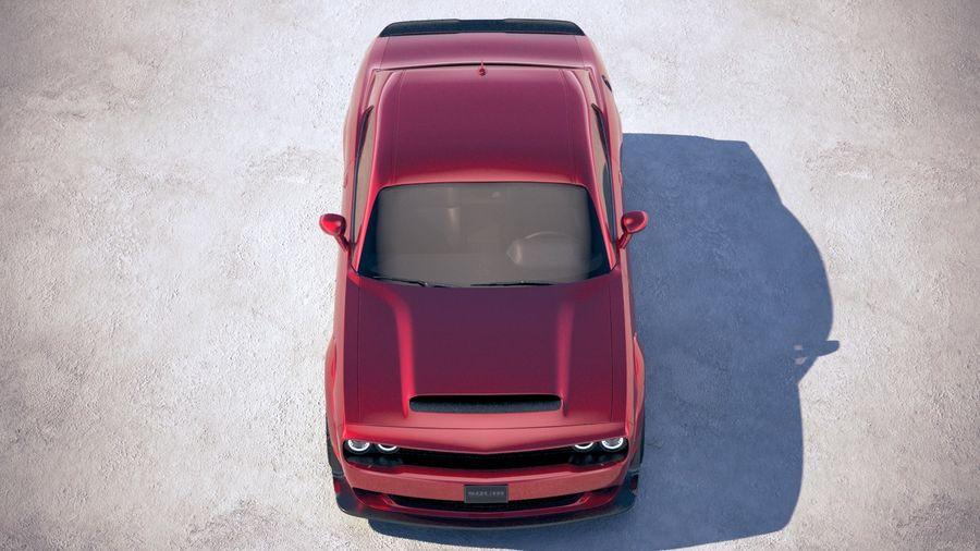 Dodge Challenger SRT Demon 2018 royalty-free 3d model - Preview no. 9