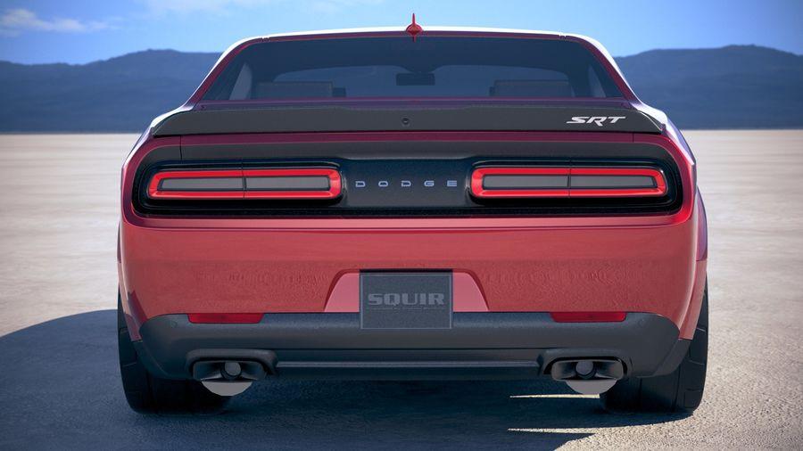 Dodge Challenger SRT Demon 2018 royalty-free 3d model - Preview no. 11