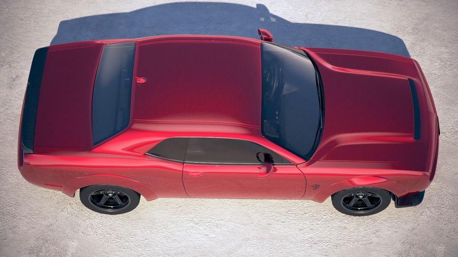 Dodge Challenger SRT Demon 2018 royalty-free 3d model - Preview no. 8