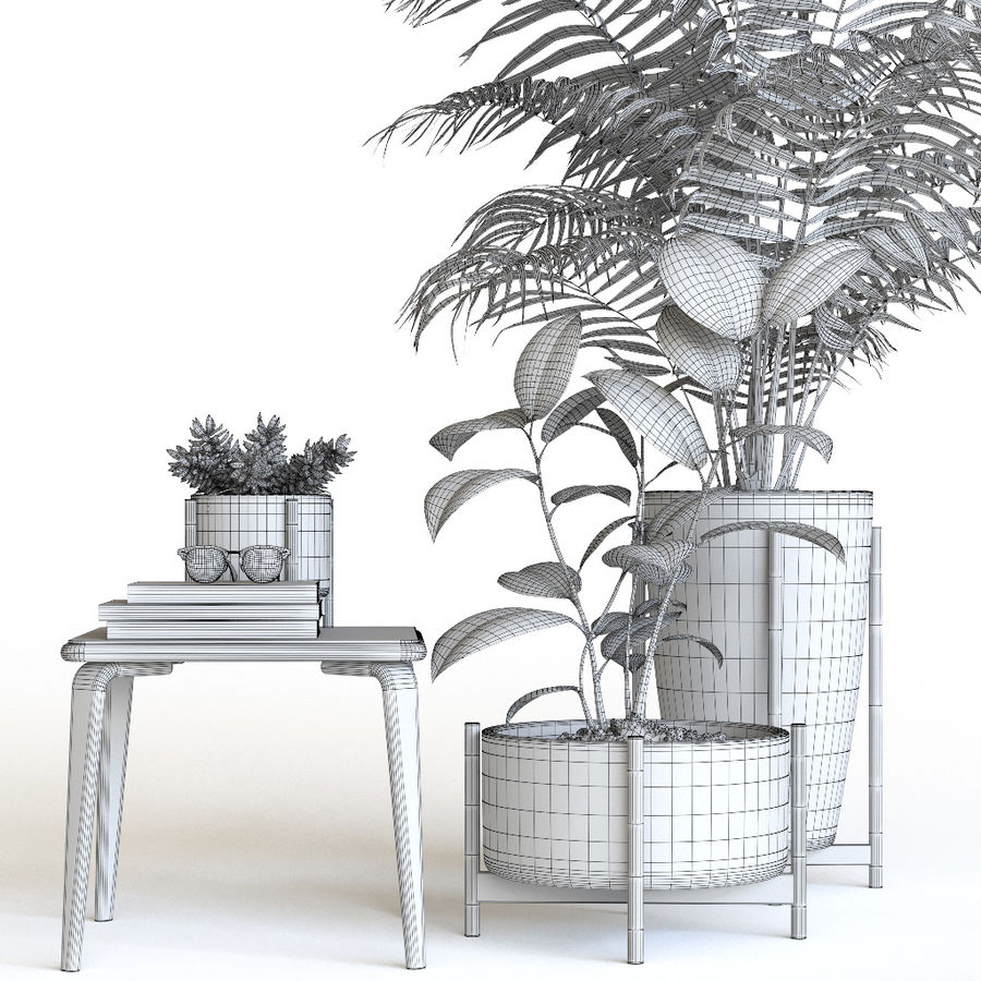 Plant set royalty-free 3d model - Preview no. 7