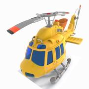 Toon Helicopter 3d model