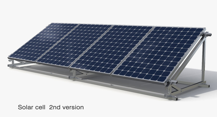 Solar Cell royalty-free 3d model - Preview no. 2