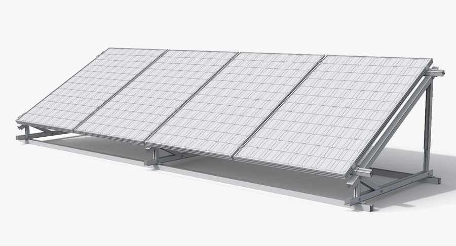 Solar Cell royalty-free 3d model - Preview no. 10