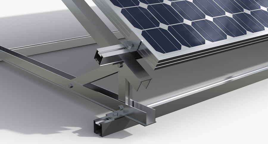 Solar Cell royalty-free 3d model - Preview no. 6