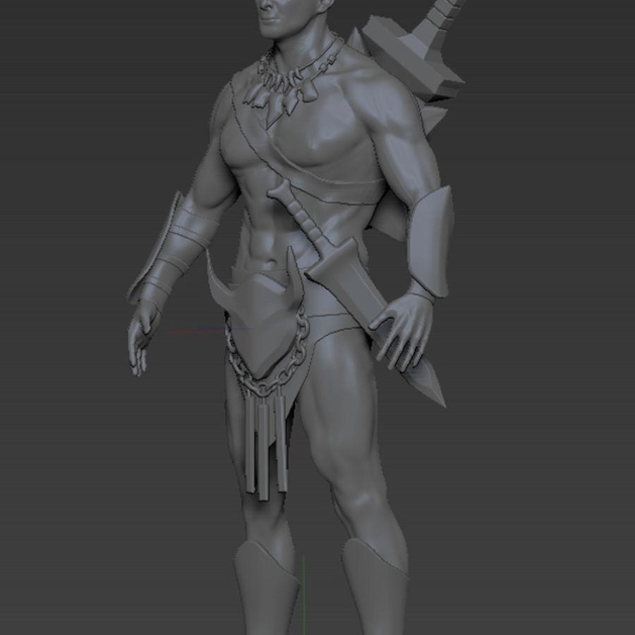 Warrior character 3D Model $19 -  ma  obj  stl  fbx  ztl
