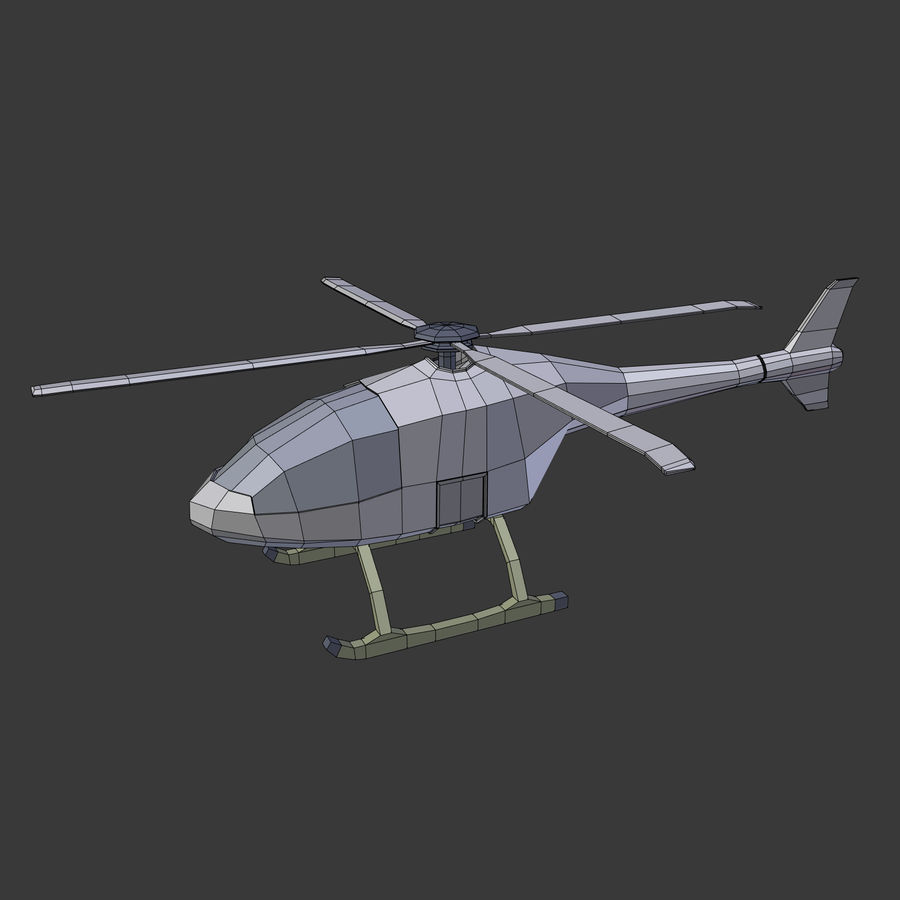 Aircraft_Fantasy_Helicopter royalty-free 3d model - Preview no. 3